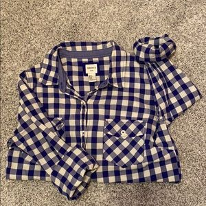 Forever 21 Button-up Gingham Flannel Size S
